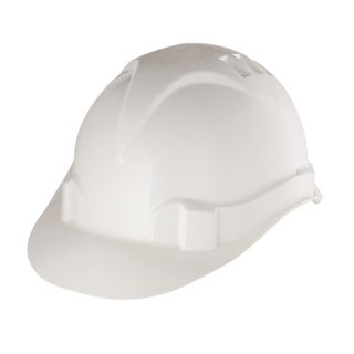SIBRETECH / Safety helmet made of impact-resistant plastic, size 52-66, white