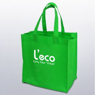 Shopping bag with handles