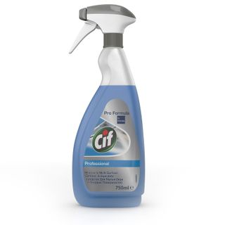 "Means for cleaning glasses and surfaces 750 ml, CIF (Sif) ""Professional"", spray"