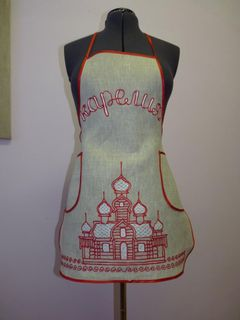 "Apron women's ""Dome"" Karelian patterns"