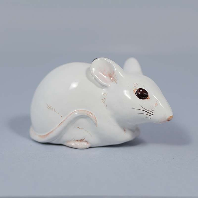 "Yaroslavl majolica / Pendant ""White mouse"""