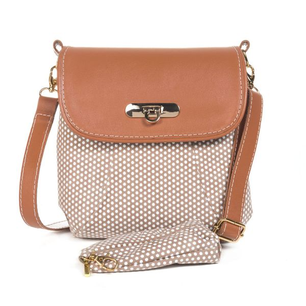 Leather bag 'Paris' brown