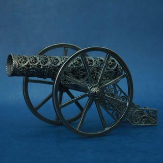 "Souvenir ""Gun"", Kazakovo filigree, silver plated"