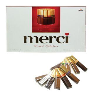 MERCI / Assorted chocolates, cardboard box 400 g