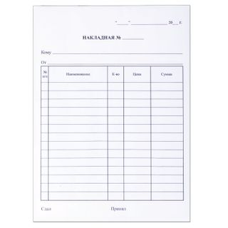 The form of accounting, offset, 2-ply carbonless, Invoice, A5 (151х208 mm), SPIKE 50 PCs