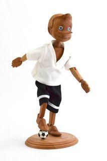 Pinocchio in his football uniform