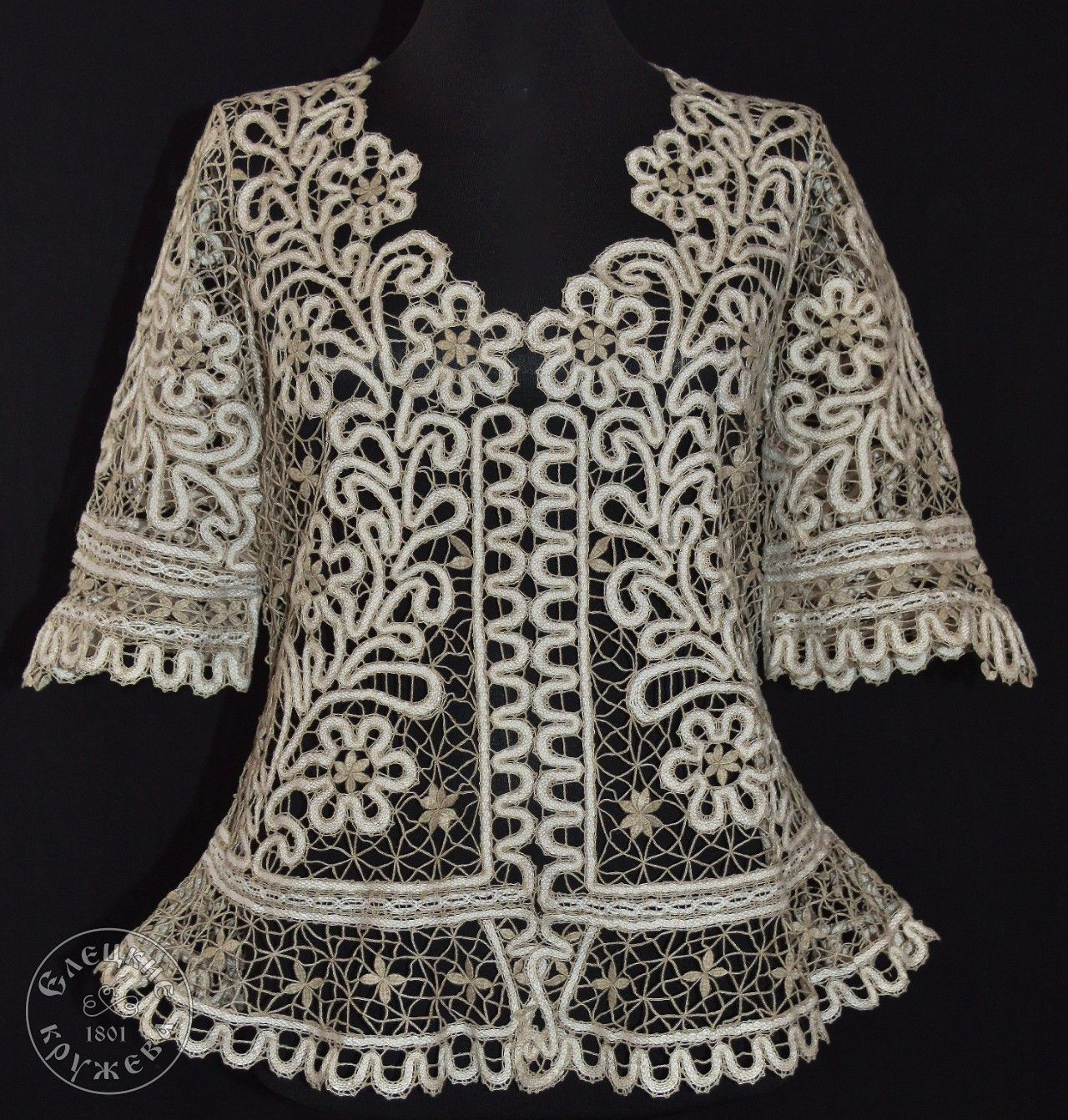 Yelets lace / Women's lace blouse 49-08