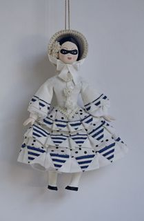 Doll gift. Suit on grounds of esk. Bakst