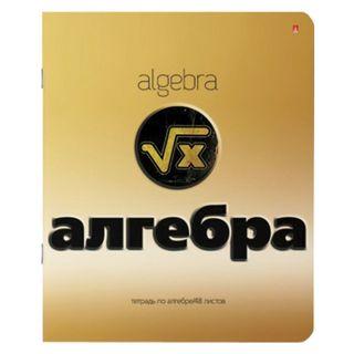 Notebook subject GOLD 48 sheets, congrev, foil, varnish, ALGEBRA, cage, ALT