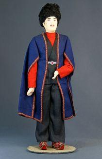 Doll gift porcelain. Armenia. Yerevan lips. Men's festive costume. The end of the 19th n the 20th century
