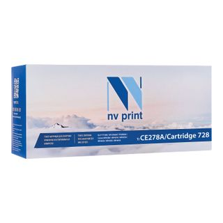 Laser cartridge NV PRINT (NV-CE278A / 728) for HP / CANON LJ P1566 / P1606 / MF4410 / 4430, yield 2100 pages.