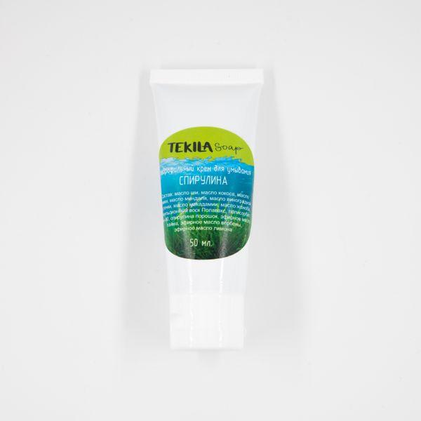 "Hydrophilic cream cleanser ""SPIRULINA"" 50 ml, Tekila Soap"
