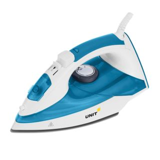 Iron UNIT USI-281, 2200w, ceramic surface, self-cleaning, antinakipin, anticaps, blue