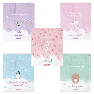 "Notebook A5 48 sheets ALT brace, cage, Soft Touch, foil, ""Marshmallow DREAMS"""