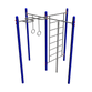 Sports complex: zigzag for pulling up, crossbar with rope, crossbar with rings and MM-53 ladder - view 1