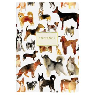 Notebook A5 EUR 40 L. BRUNO VISCONTI cross-linking, cell, Soft Touch, foil, beige paper 70 g/m2, DOG