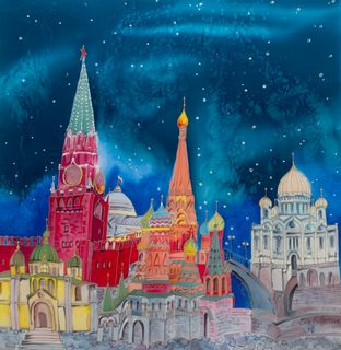 """Shawl """"Red Square"""""""