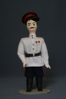 Doll gift porcelain. Don Cossack