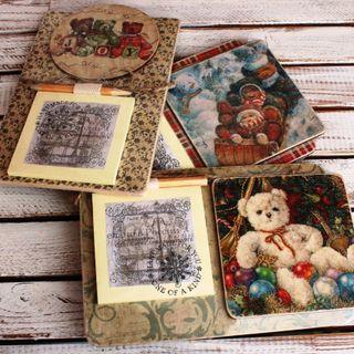 Souvenir fridge magnet with a notebook. Bears mix.