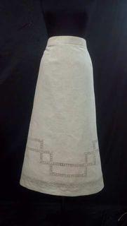 Linen skirt for women