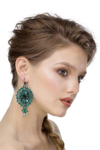 Barbara Lace Earrings Green, Madame Cruje