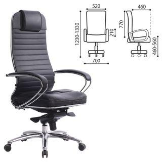 "Office chair METTA ""SAMURAI"" KL-1 black, leather"