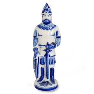 Warrior bottle 0.5 l 2nd grade, Gzhel Porcelain factory