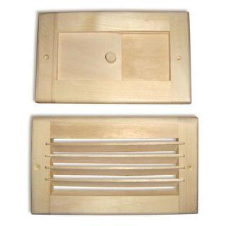 Lattice, valve for sauna and sauna
