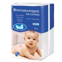 """Diapers """"Our Mother"""" absorbent disposable 60x90 cm, 5 pcs"""