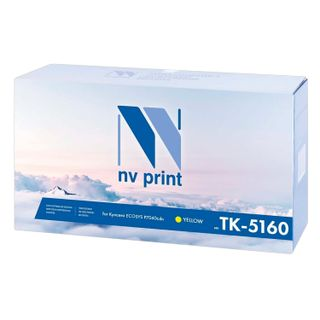 Toner cartridge NV PRINT (NV-TK-5160Y) for KYOCERA ECOSYS P7040cdn, yellow, 12000 pages.