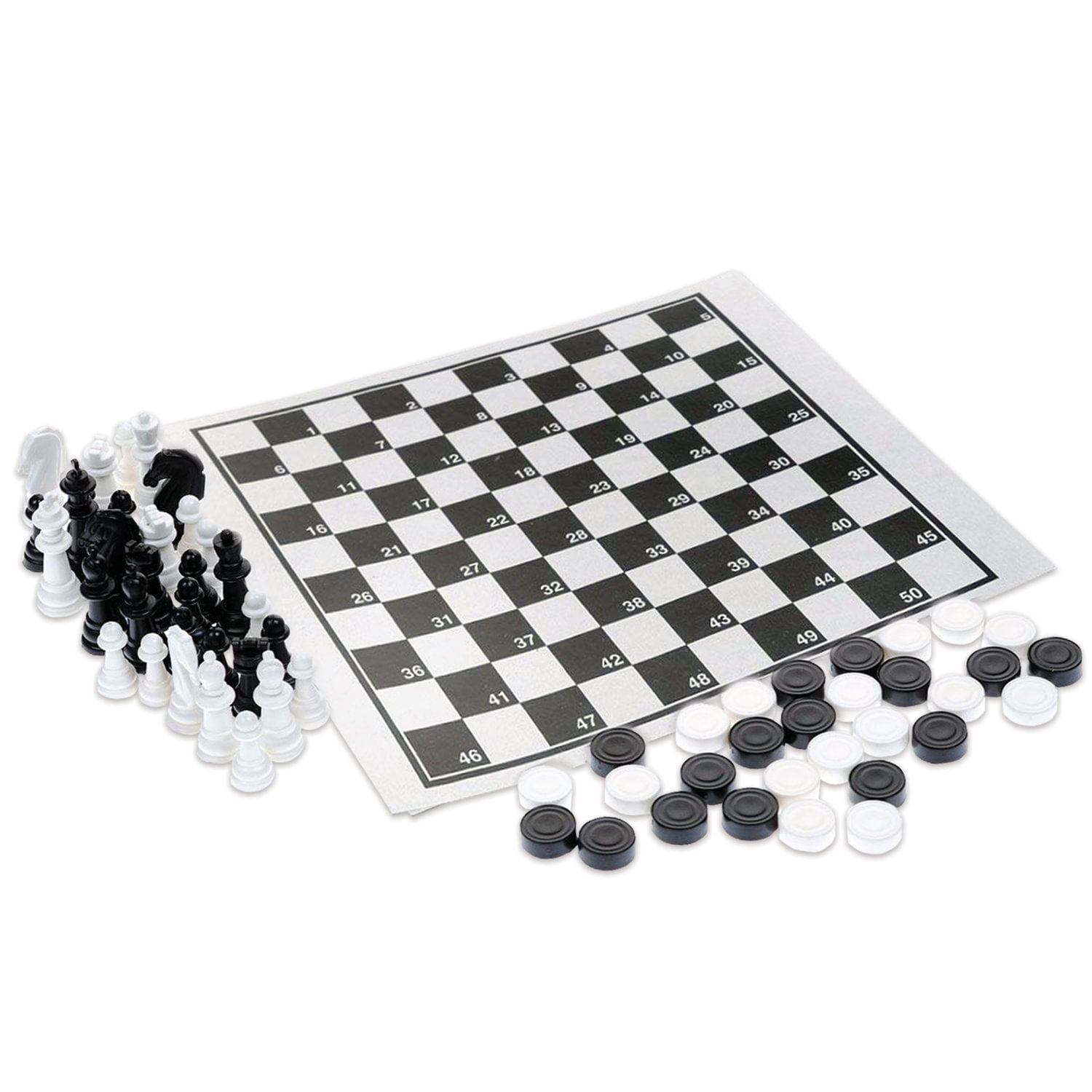 """Game 2 in 1 """"Chess and Checkers,"""" 21 x19 cm, """"Tenth Kingdom"""""""