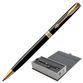 Ballpoint pen PARKER 'Sonnet Lacquer Black GT Core Slim', slim case, black glossy lacquer, gold plated parts, black - view 1
