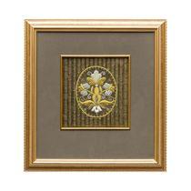 Panels hand embroidery 'Inspiration' green, Torzhok seamstresses