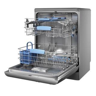 INDESIT DFP58T94CANXEU dishwasher, 14 sets, 8 washing programs, 57x60x85, silver