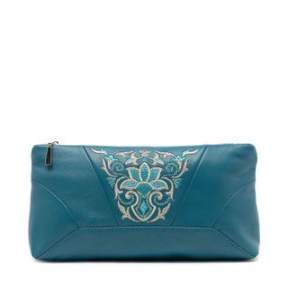 "Leather cosmetic bag ""Anastasia"""
