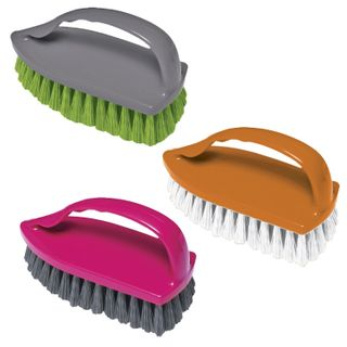 """Brush for clothes / shoes large 9x14x6 cm plastic assorted color """"Iron"""", YORK"""