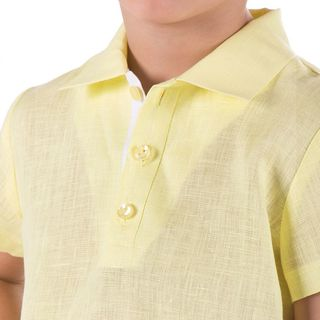 Shirt Jungle yellow color with silk embroidery