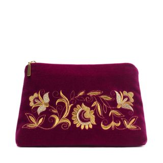 "Velvet cosmetic bag ""Dreams"" lilac"