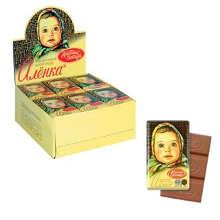 "RED OCTOBER / Chocolate ""Alenka"", 15 g, in showbox"