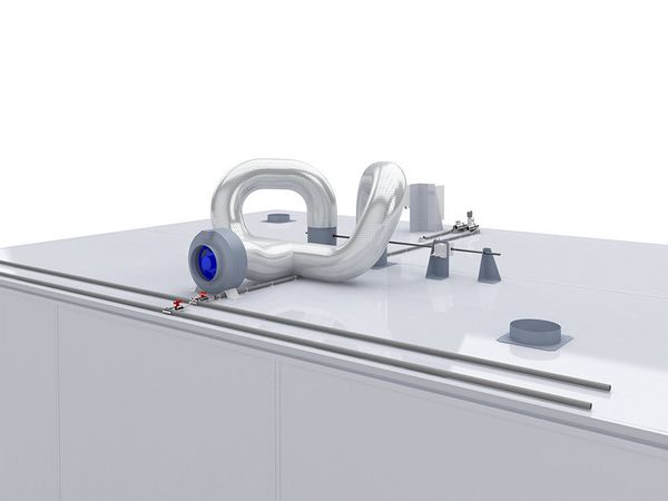 Intake and exhaust system in the incubator