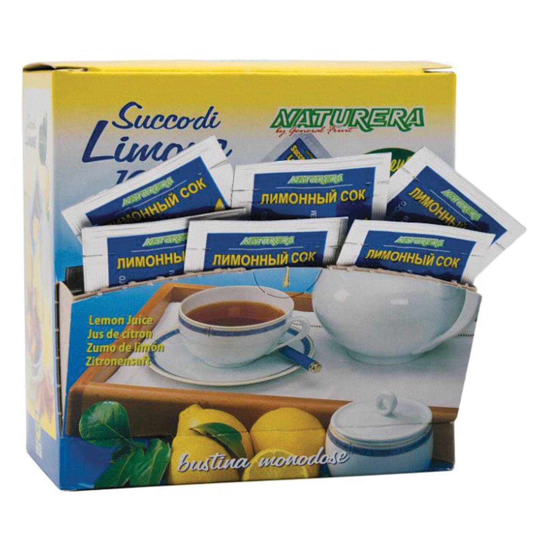 NATURERA / Lemon juice portion 25 sachets of 4 ml, show box