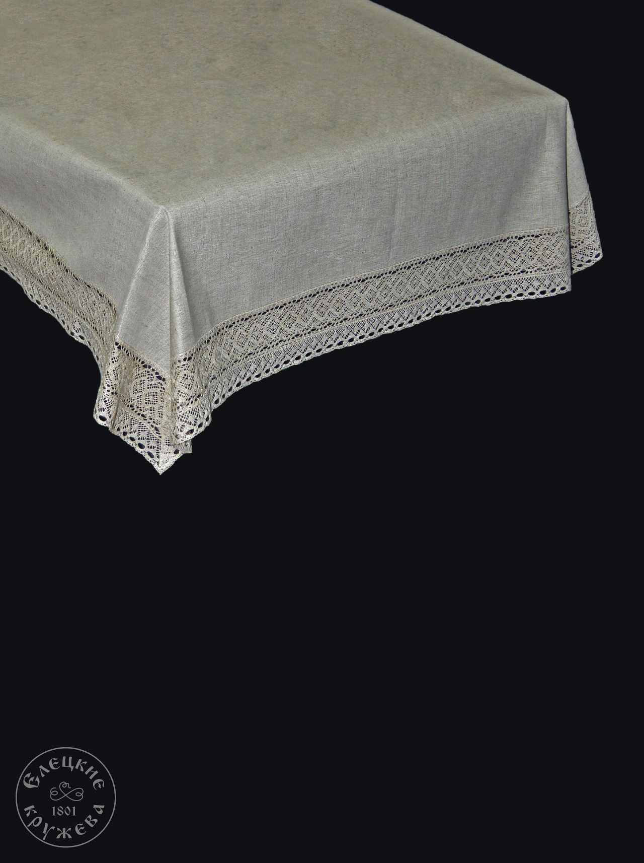 Yelets lace / Linen tablecloth С2071А
