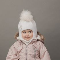 HELMET WINTER KNITTED (WHITE) WITH MECH.PROMOPON