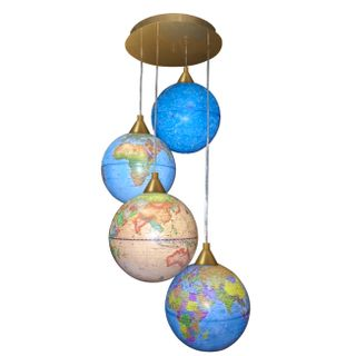 """Chandelier """"Premium"""" in the form of globes"""