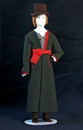 Doll gift. Estonian men's costume mid-19th century. Estonia. Region: Ida-Virumee.