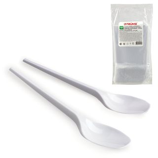 "LIMA / Disposable table spoons 165 mm, SET 100 pcs., ""ETALON"", plastic"
