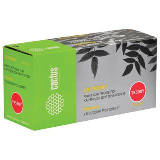 Toner Cartridge CACTUS (CS-TK590Y) for KYOCERA FS-C2026MFP / 2126MFP / 2626MFP, Yellow, 5000 pages