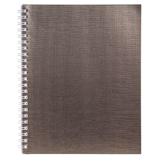 The notebook is bumvinil, A5, 96 sheets, comb, offset No.1, cage, BROWN Metallic, HATBER