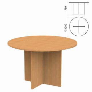 Argo Circle Negotiating Table, 1200 x1200s760 mm, Aroso Pear