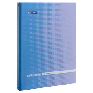 Notebook on rings BIG FORMAT (225x300 mm) A4, 100 sheets, cover cardboard, cage, glossy lamination, BRAUBERG,